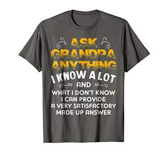 Ask Grandpa Anything T-shirt Funny Gift For Papa