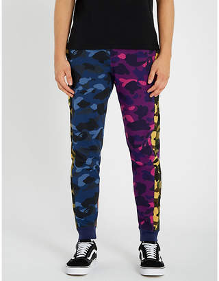 A Bathing Ape Camouflage Crazy cotton-jersey jogging bottoms