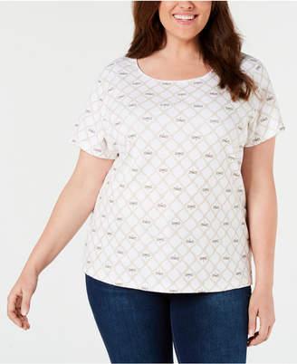 Karen Scott Plus Size Printed T-Shirt