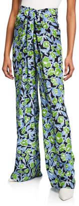 Christian Wijnants Pari Floral-Print Wide Leg Pants