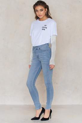 Cheap Monday High Spray Stone Bleach Jeans