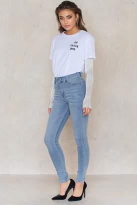 Cheap Monday High Spray Stone Bleach Jeans