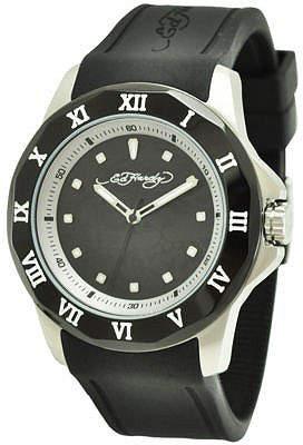 Ed Hardy Mens Roman Black Watch