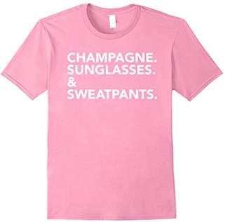 Champagne Sunglasses & Sweatpants T-Shirt