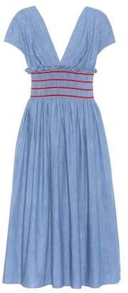 Miu Miu Cotton midi dress