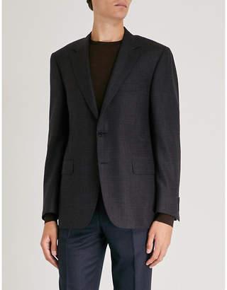 Canali Crosshatch wool and cashmere-blend blazer