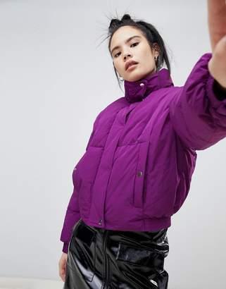 Pull&Bear crop puffer jacket