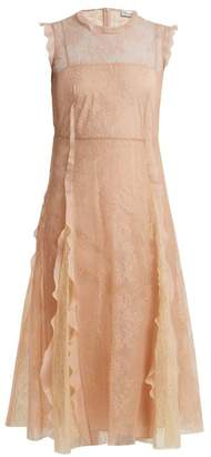 RED Valentino Ruffle-trimmed lace midi dress