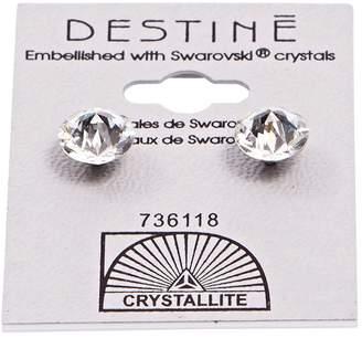 Crystallite Destine Double Diamond Cut Earrings