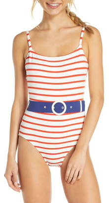 Solid & Striped The Nina Belted One-Piece Swimsuit