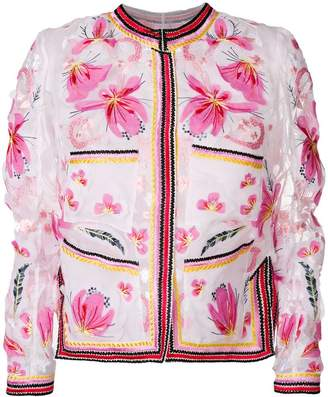 Ermanno Scervino embroidered organza jacket