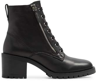 Aldo Plaid Lace-Up Combat Boots