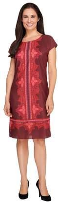 Isaac Mizrahi Live! Paisley Print Short Sleeve Dress