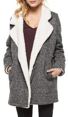 Dex Faux Shearling-Trimmed Coat