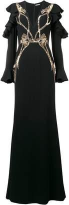 Alexander McQueen sequin embroidered evening dress