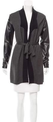 Neiman Marcus Knit Longline Cardigan