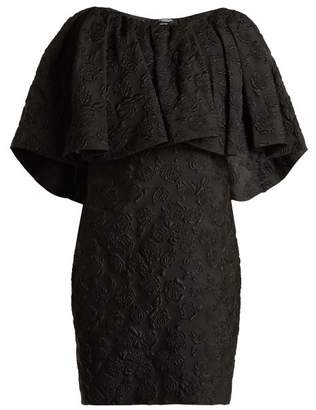 Calvin Klein Floral Jacquard Silk Dress - Womens - Black