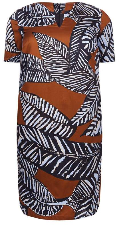 Per Te By Krizia Cotton Zebra Print Dress