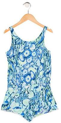 Lilly Pulitzer Girls' Printed Sleeveless Romper