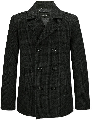 Black Rivet Peacoat