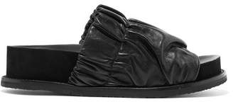 Proenza Schouler Leather Platform Slides - Black