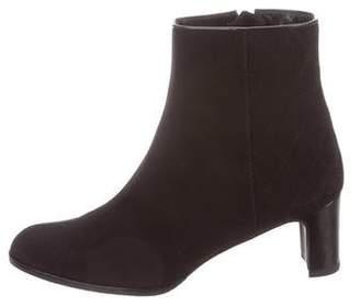 Stuart Weitzman Round-Toe Ankle Boots