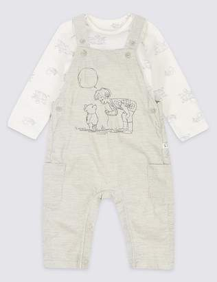 Marks and Spencer 2 Piece Winnie the Pooh & FriendsTM Dungarees & Bodysuit