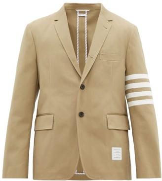 Thom Browne Striped Single Breasted Cotton Blazer - Mens - Camel