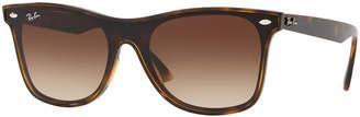 Ray-Ban Men's Blaze Wayfarer Lens-Over-Frame Square Gradient Sunglasses