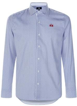 La Martina Spotted Stripe Cotton Shirt
