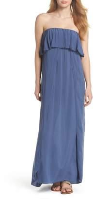 Elan International Strapless Maxi Cover-Up Dress