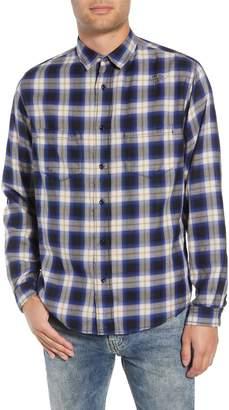The Kooples Classic Fit Distressed Plaid Shirt