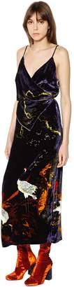 Blend of America Act N°1 Printed Silk Velvet Wrap Dress