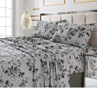 Tribeca Living Lisbon Printed 300 Tc Cotton Sateen Extra Deep Pocket Sheet Set Queen Sheet Set Bedding
