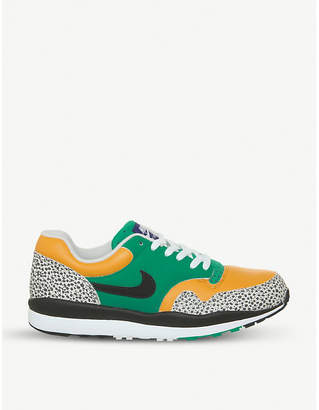 Nike Safari ostrich-print leather trainers