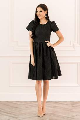 Rachel Parcell Floret Organza Dress in Classic Black
