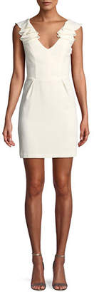 Amanda Uprichard Gimlet Sleeveless Ruffle Mini Dress