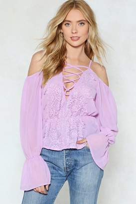 Nasty Gal No Love Lost Lace-Up Blouse