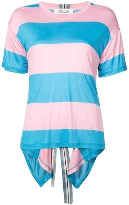 Diane von Furstenberg striped asymmetric T-shirt