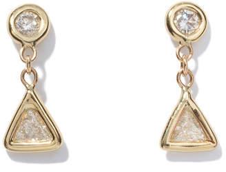 Jacquie Aiche Trillion Diamond Drop Stud Earrings