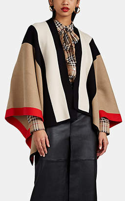 Burberry Women's Heritage-Striped Wool-Cashmere Cape - Camel