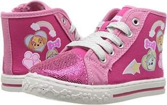 Nickelodeon Girls' Paw Patrol Hi-Top Canvas Sneaker