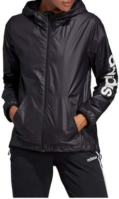 adidas Hooded Wind Resistant Lightweight Raincoat