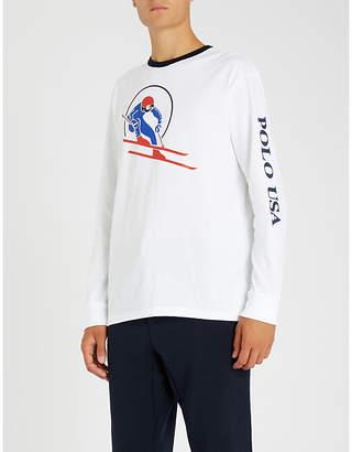 Polo Ralph Lauren Skier-logo cotton-jersey T-shirt