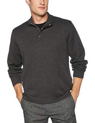 The Kooples Men's High Neck Sweater with Skull Head Button Closure