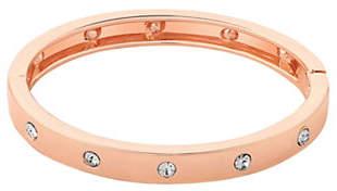 GUESS Rose Goldtone Hinged Bangle Bracelet