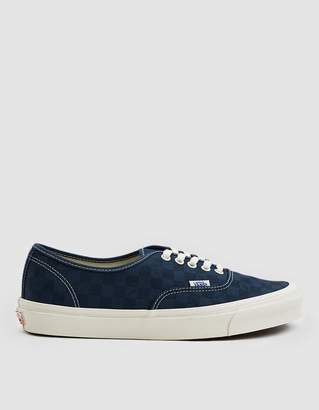 Vans Vault By OG Authentic LX Sneaker in Checkerboard/Majolica Blue