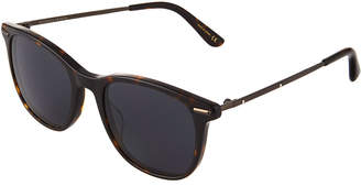 Bottega Veneta Round Tortoiseshell Acetate/Metal Sunglasses