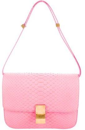 CelineCéline Medium Python Box Bag
