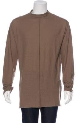 Robert Geller 2017 Longline Linen-Blend T-Shirt